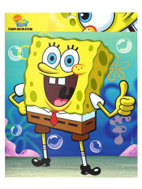 Spongebob Squarepants Can easily be attached to the wall using the ...