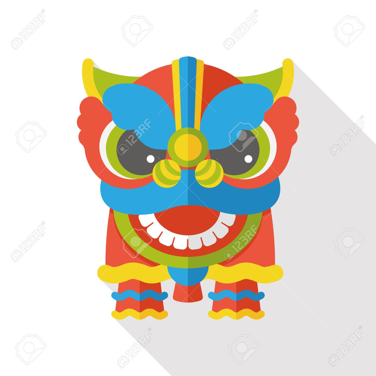 3fdb35ac5 Stock Vector in 2019 | CNY Dragons | Chinese lion dance, Chinese ...