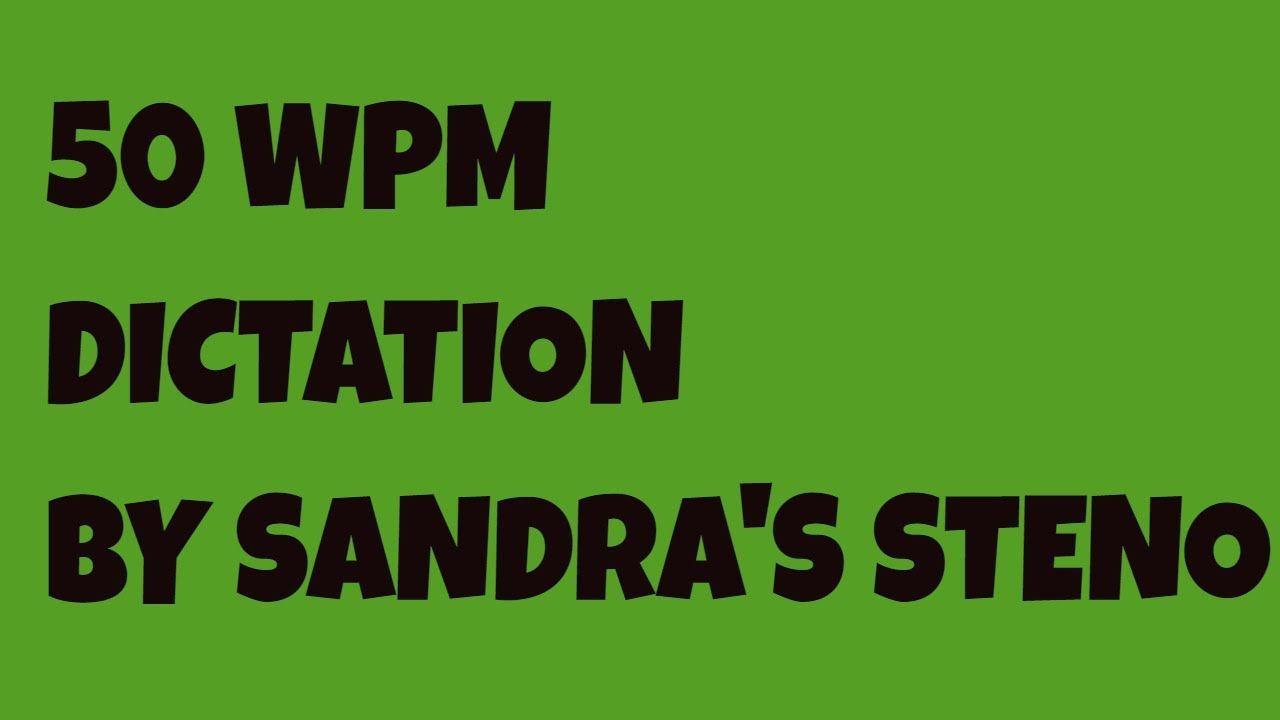 50 WPM ON COMMON CARRIER JURY CHARGE SANDRA'S STENOGRAPHY