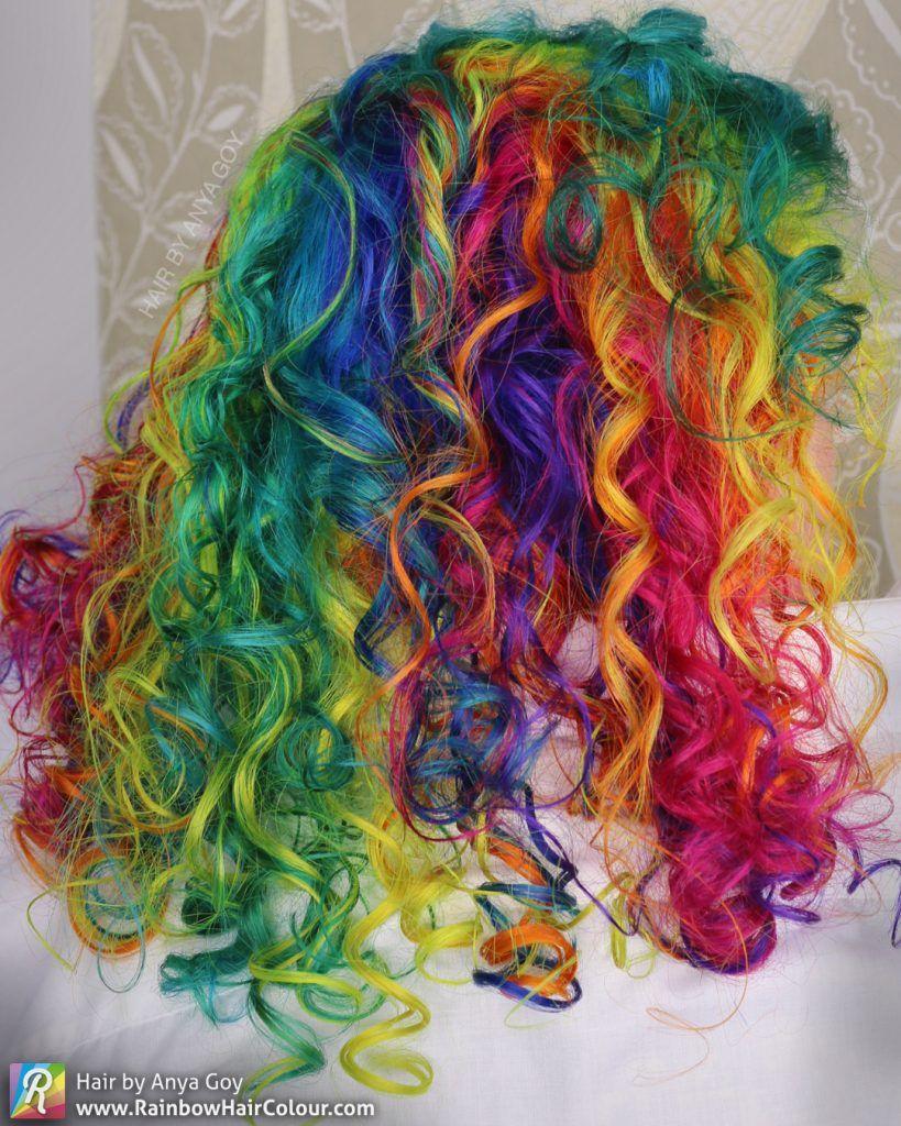Under Maintenance Unicorn Hair Dye Short Rainbow Hair Rainbow Hair Color