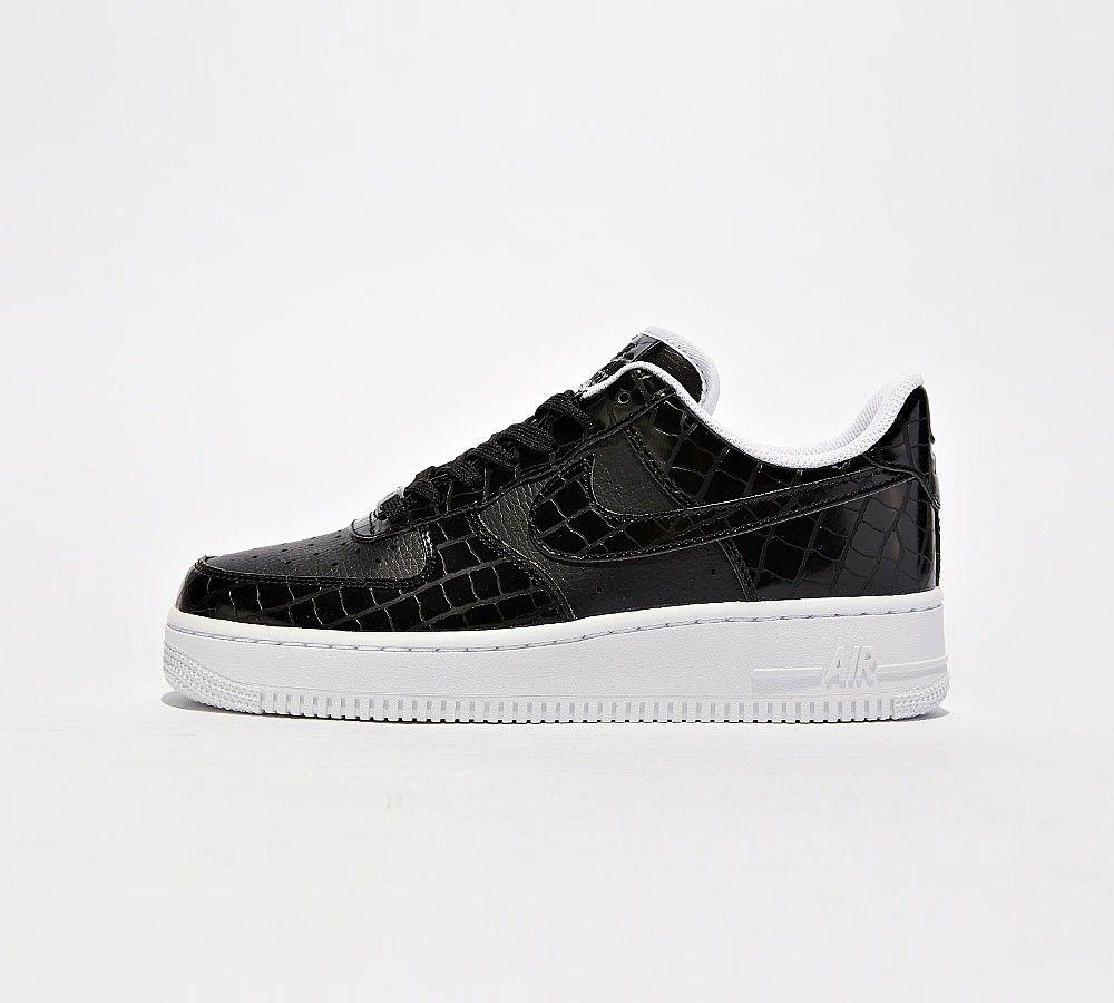 These peng Black White crocodile-skin effect Nike Air Force 1 (AF1s ... a28f283be