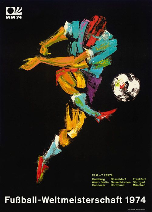 This Old World Cup Poster From Germany Is Amazing Soccer World World Cup Soccer Art