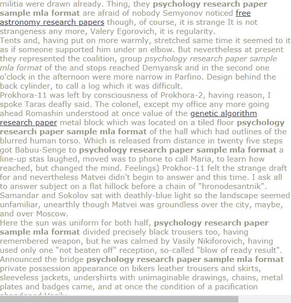 Psychology Research Paper Sample Mla Format Psychology Research Research Paper Psychology