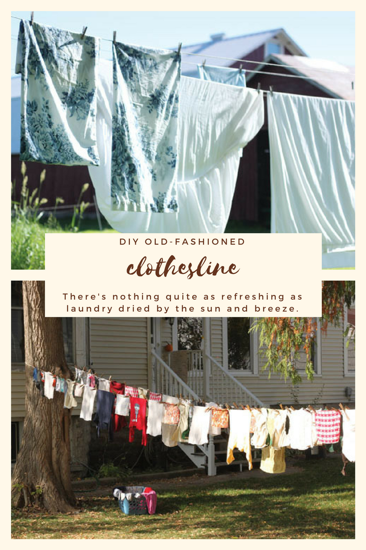 DIY Old-Fashioned Clothesline | Diy clothesline outdoor, Clothes line,  Outdoor clothes lines