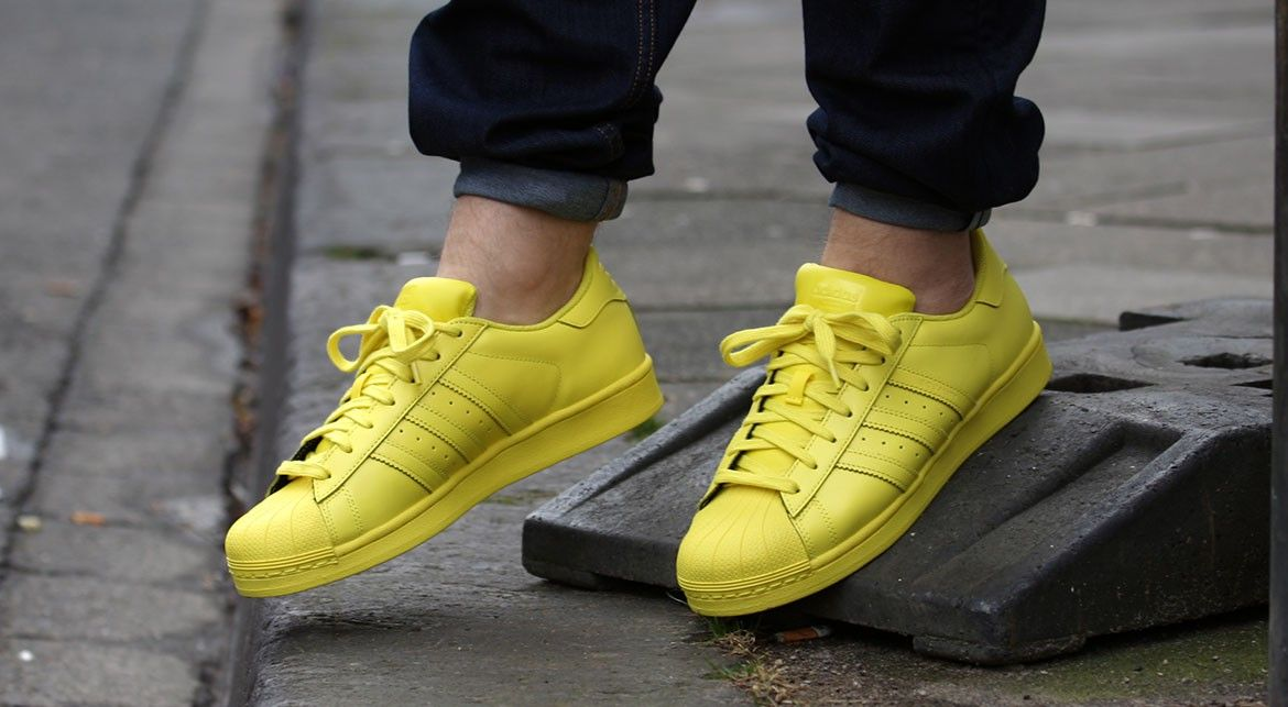 adidas superstar bright yellow