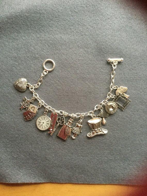 Alice in wonderland themed bracelet by Porterpretties on Etsy