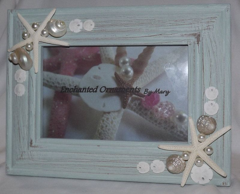 "Seashell Photo Frame, Shell Picture Frame, Beach Decor, Beach Frame, 4""x6"" Frame, Coastal Decor, Beach House by EnchantedOrnaments on Etsy https://www.etsy.com/listing/237656640/seashell-photo-frame-shell-picture-frame"