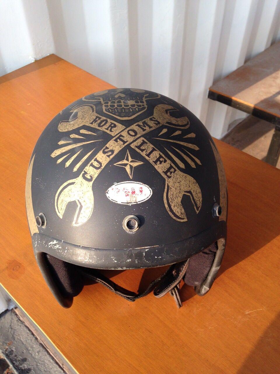 Custom Paint Vintage Helmet Motorcycle Helmets Vintage Motorcycle Helmet Design