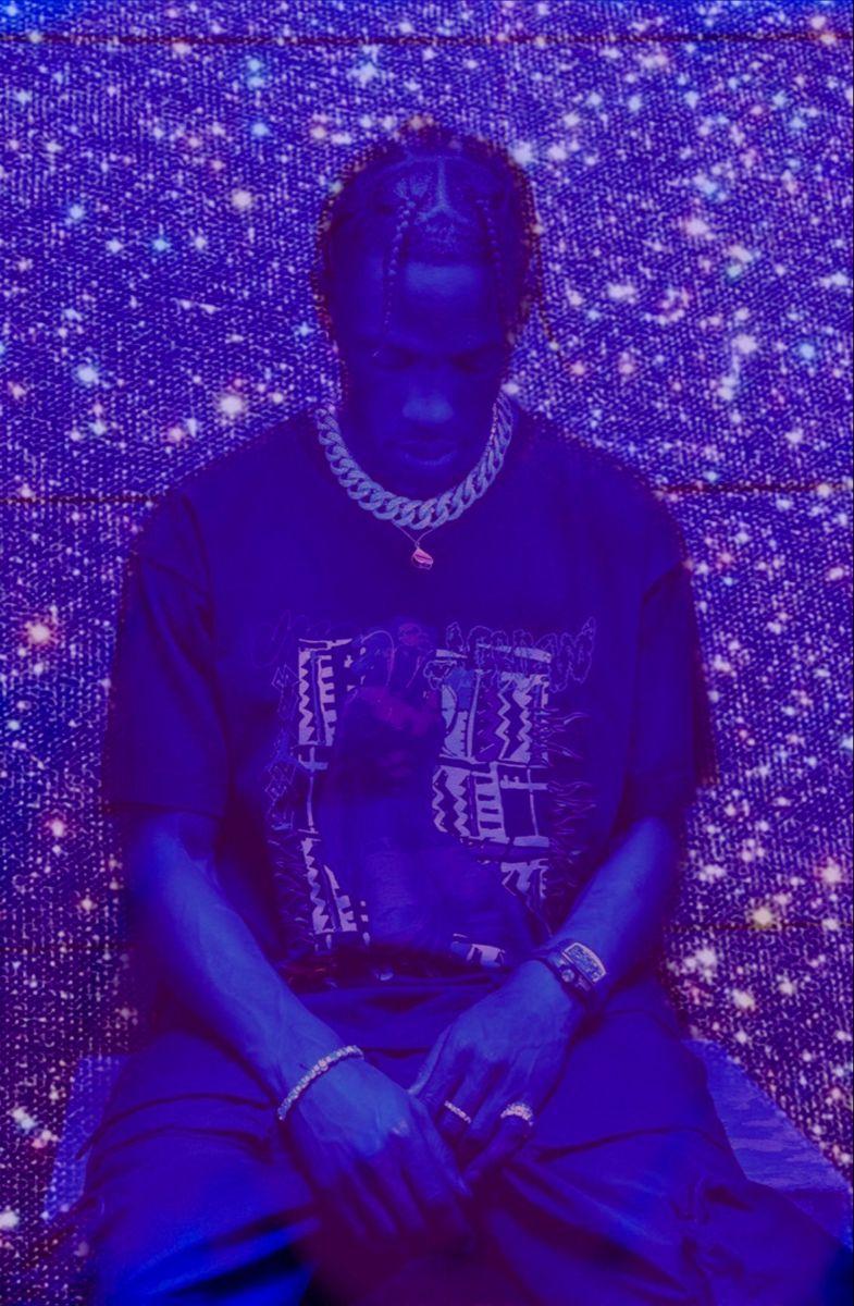 Travis Scott Aesthetic Glitter Travis Scott Wallpapers Purple Wall Art Purple Aesthetic