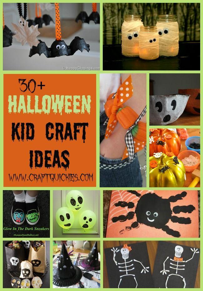 30+ Halloween Kid Craft Ideas TODDLER IDEAS Pinterest - how to make halloween decorations for kids