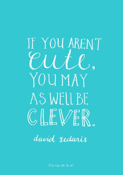 David Sedaris Pretty Awesome Quotes Love Me Quotes Lovely Quote