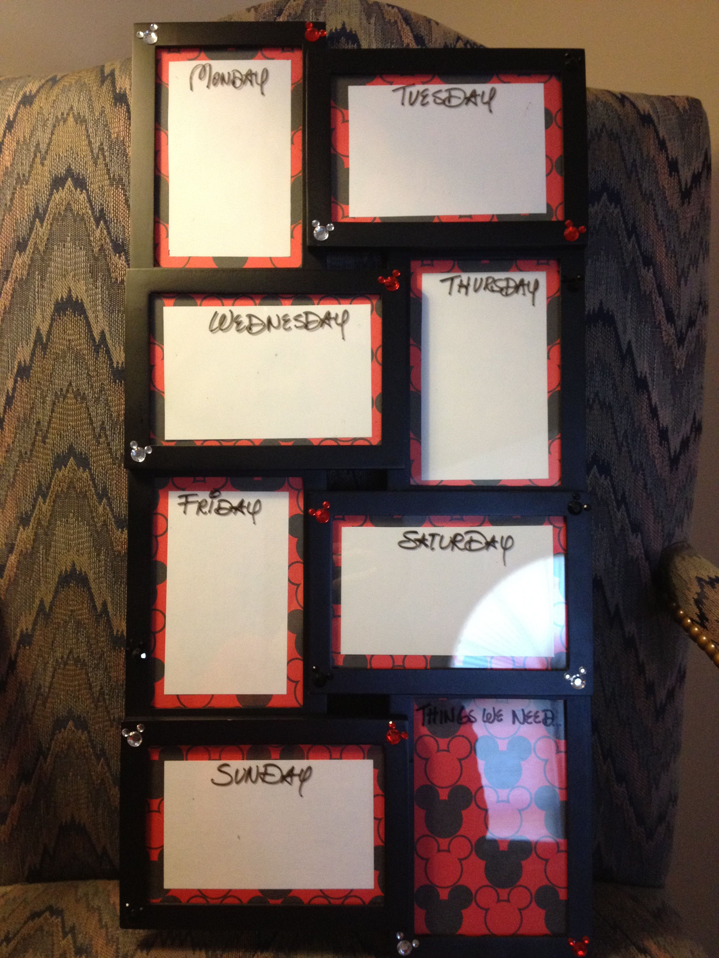 $10 Wal-mart Picture frame + Scrapbook paper and a notecard= A Memo ...