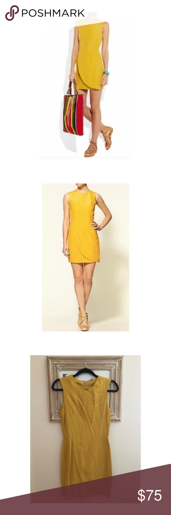 KAIN Label Cam wrap effect dress Silk blend / linen wrap