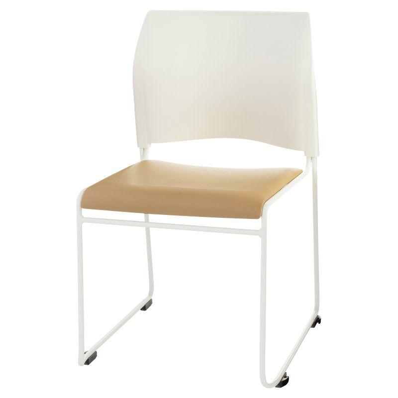 National Public Seating Cafetorium Multipurpose Stacking Chair Beige / White - 8721-01-21