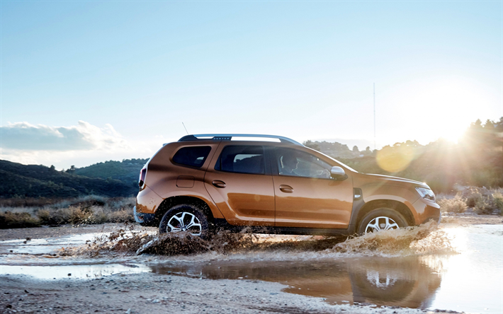 Download Wallpapers Dacia Duster 2018 4wd Side View