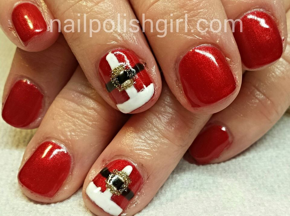 Santa Belt Nails Nails Holiday Nails Christmas Nails