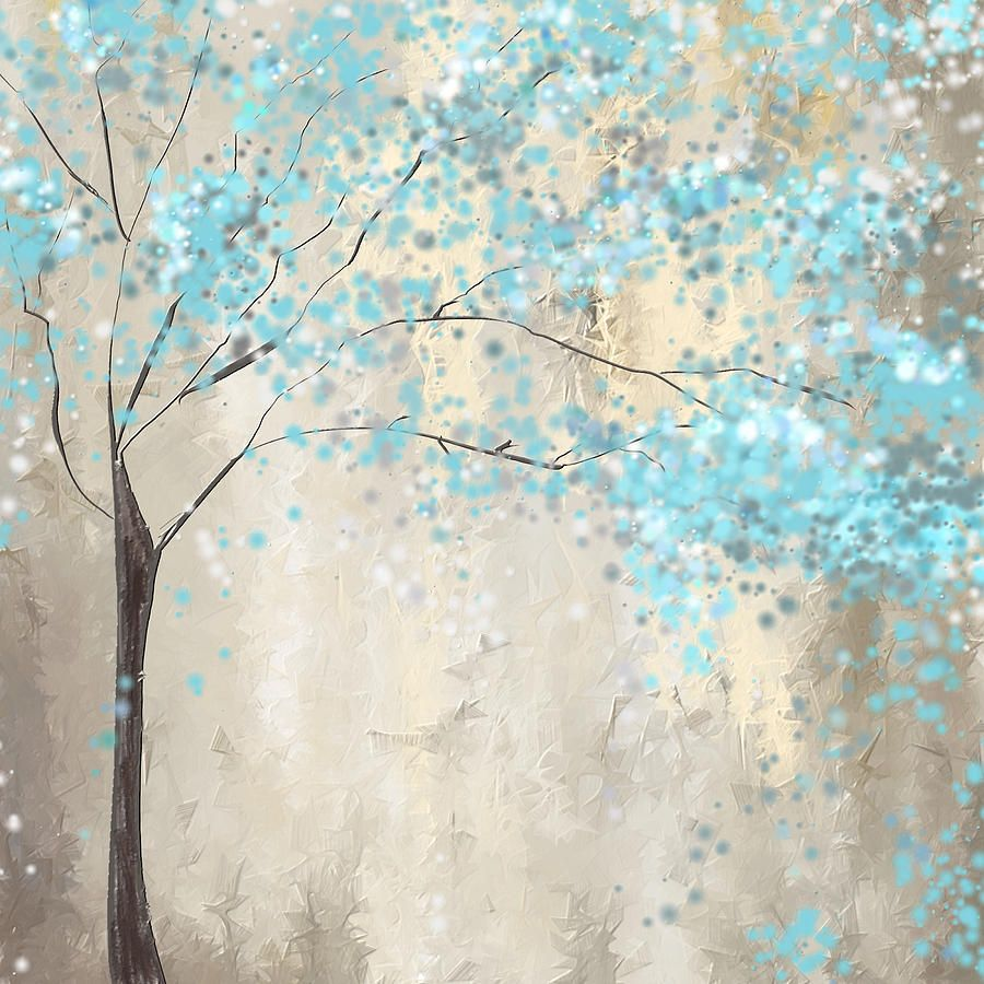 af42d7a5d1f Blue Painting - Tree Of Blues by Lourry Legarde