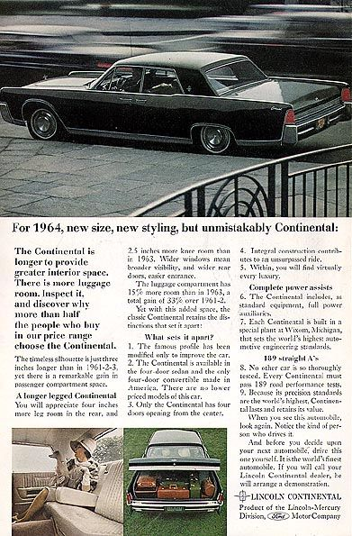 lincoln continental 1964 lincoln car brochures pinterest lincoln continental lincoln. Black Bedroom Furniture Sets. Home Design Ideas