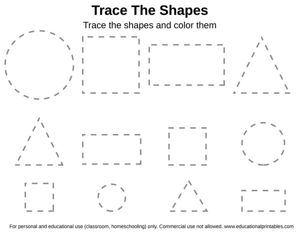 Shape Tracing Worksheets To Download Shape Tracing