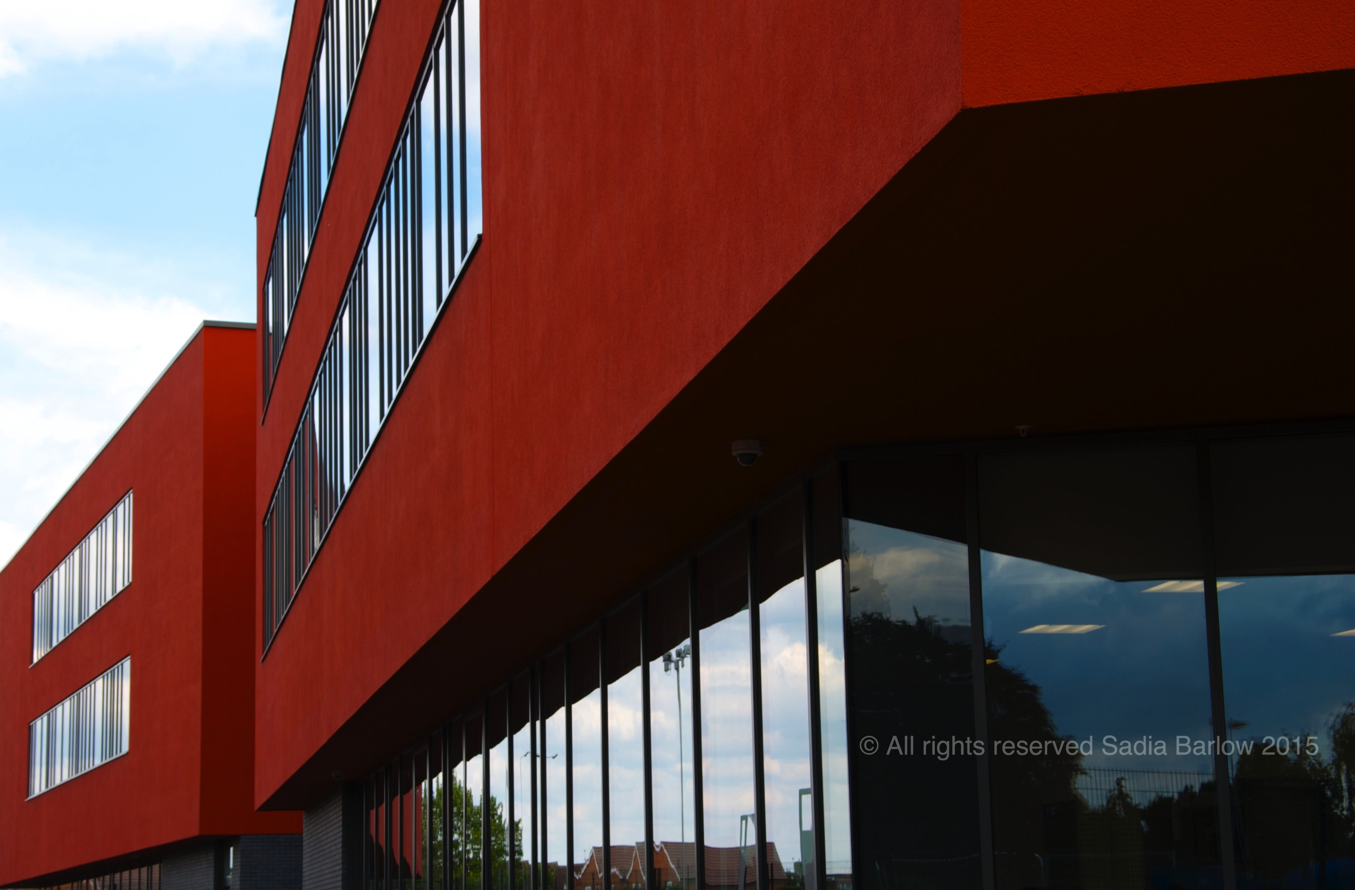 A new red building