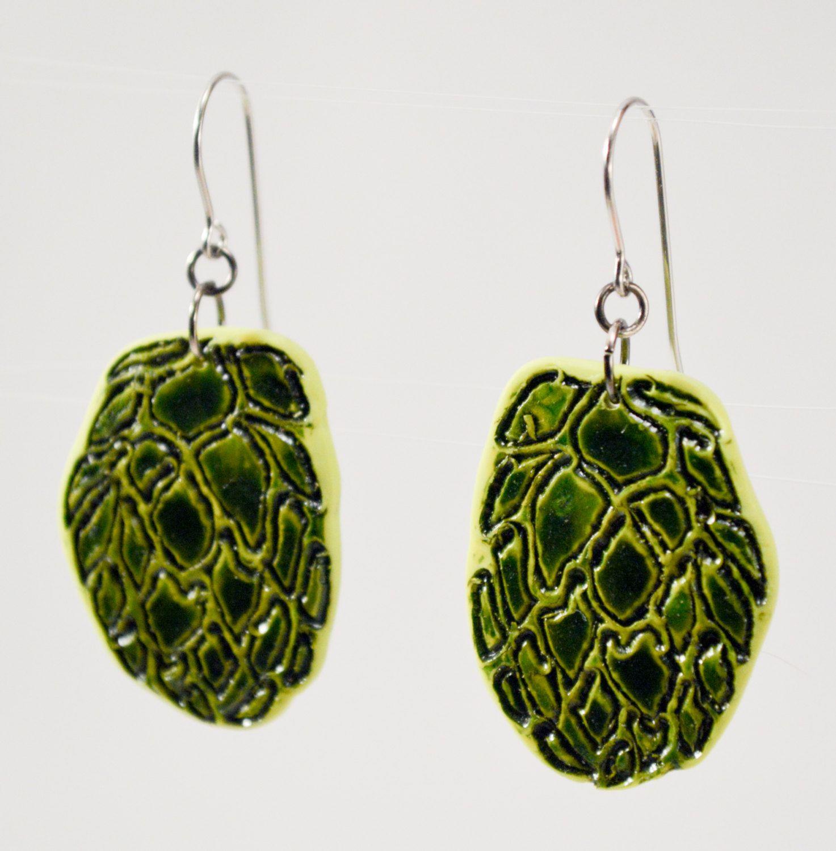 New Studio Samples Etched Hop Earrings 3 Beer Diva Jewelry Gear Geek Gift By Magsbonham On Etsy