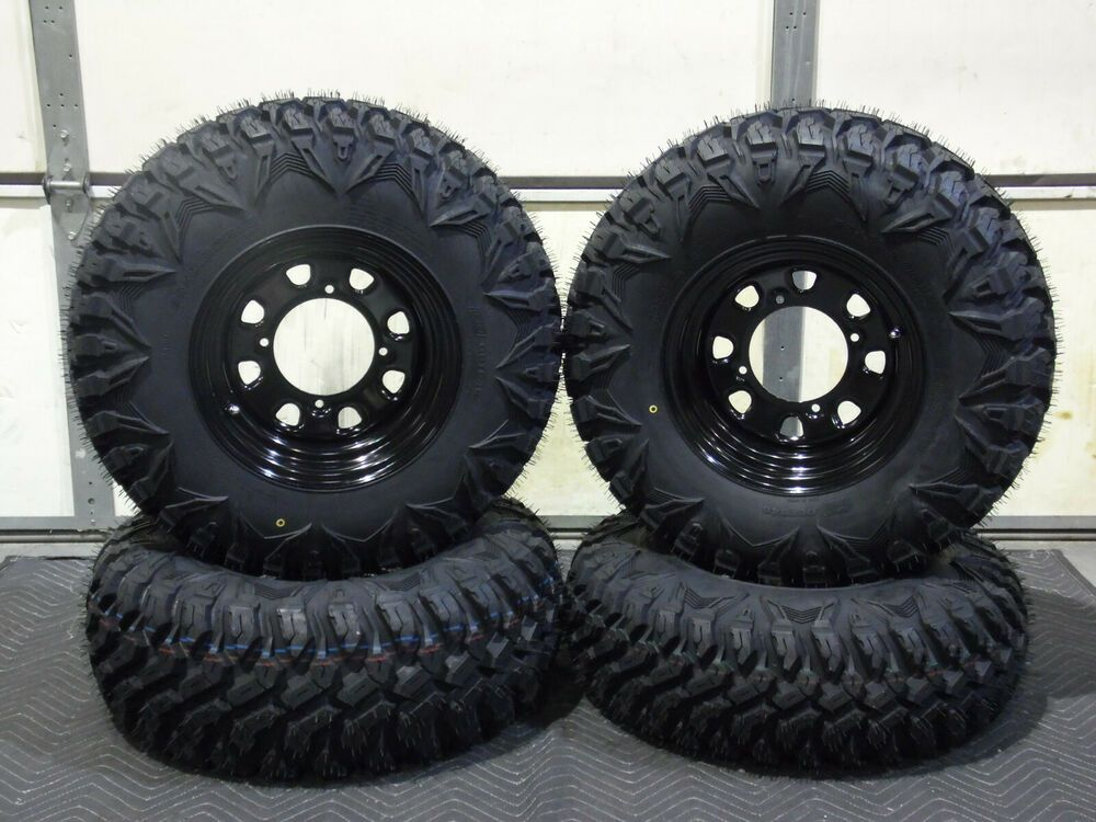 Ace 900 25 Street Trail 8 Ply Radial Atv Tire Itp Black Wheel Kit Pold Black Wheels Street Legal Atv Wheels And Tires