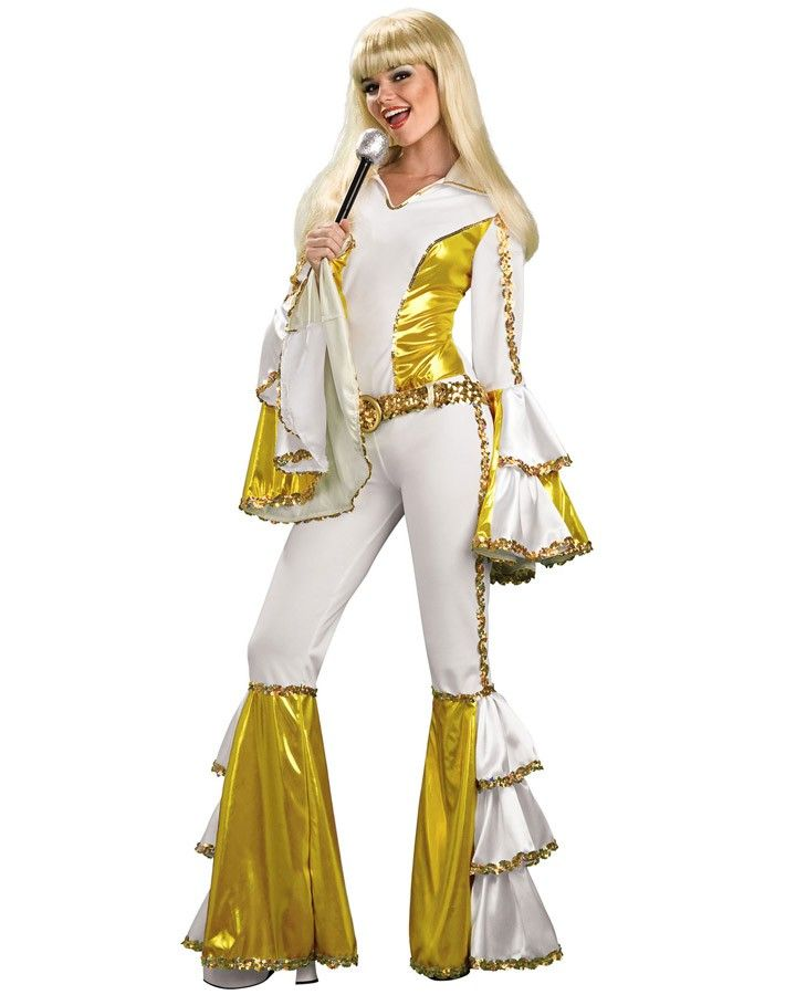Flares Fancy Dress Costume Womens Ladies 1970s Sequinned Disco Dancing Top