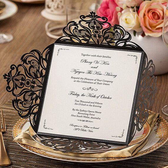 Hey, I found this really awesome Etsy listing at https://www.etsy.com/listing/271085939/black-wedding-invitations-lasercut