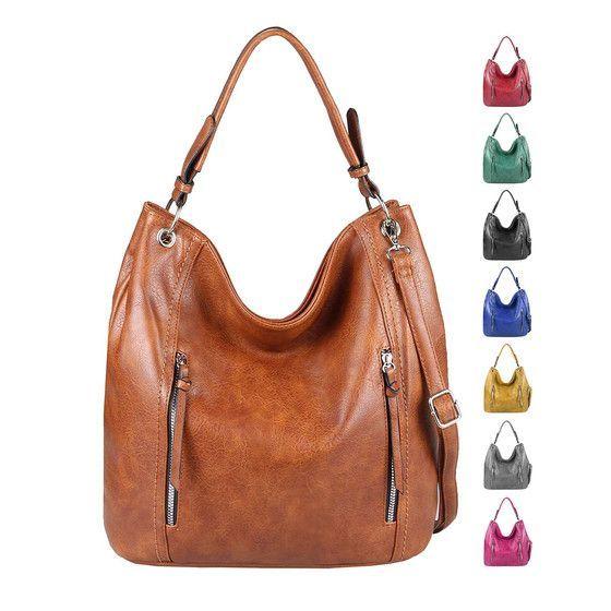 Ladies bag shopper DinA4 shoulder bag handbag shoulder bag handle bag tote bag bucket bag leather look  ITALYSHOP24COM Ladies Bag Shopper DinA4 Shoulder Bag Handbag Shoul...