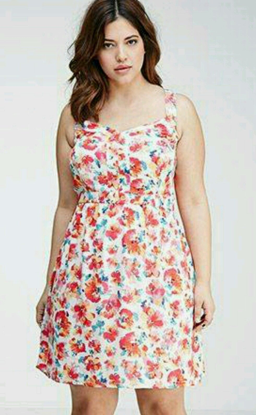 awesome awesome forever 21 plus size multi color floral print cami