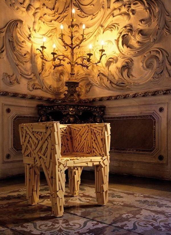 Sessel Edra Favella Natur Inspiriert Wand Verzierungen