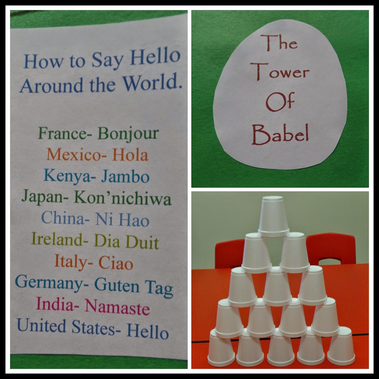 April S Homemaking Simply Sunday School Tower Of Babel