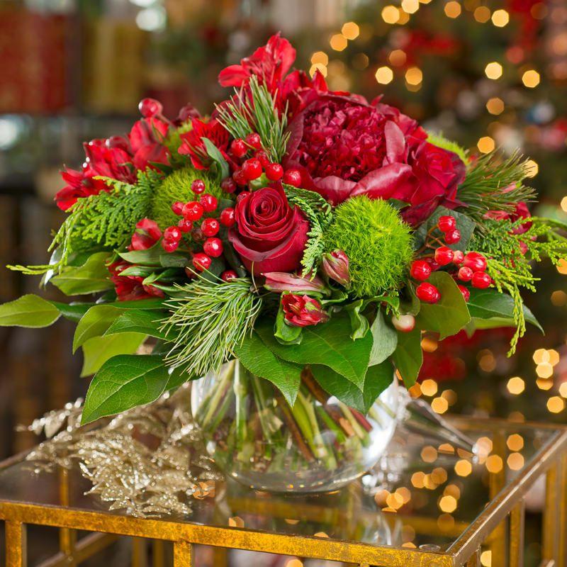 Send the Holiday Garden Arrangement bouquet of flowers