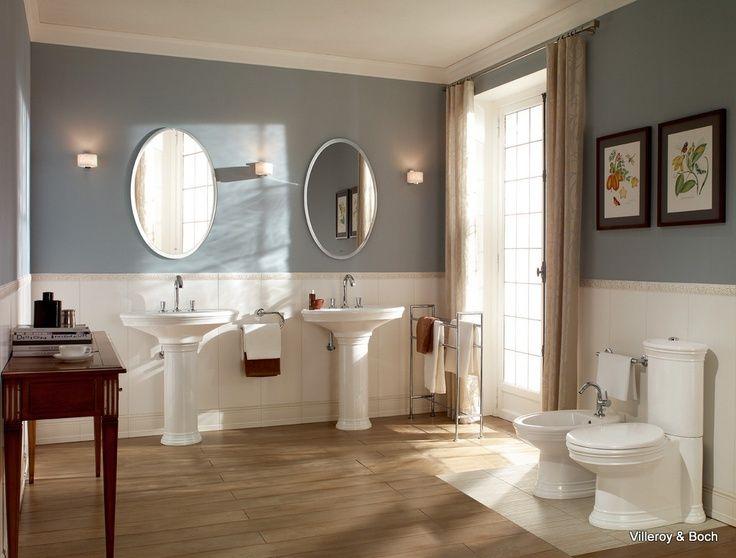 Landelijke Badkamers Voorbeelden : Landelijke badkamers in warme diepe kleuren en in combinatie met do