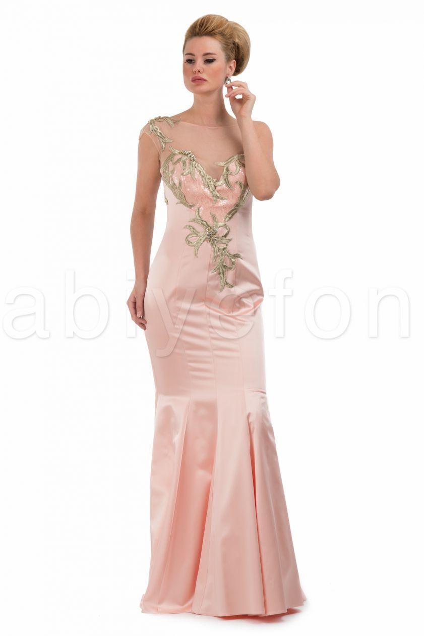 ee8b6fa4970ca Elbise modasını yakından takip eden hanımlar somon rengi bu gece elbisesi  modelinin son dönemde ne kadar