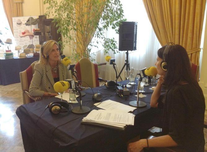 Con Azul Tejerina en el programa Hoy por Hoy de Radio Bilbao Cadena Ser desde el Hotel Carlton en la Semana Grande de Bilbao