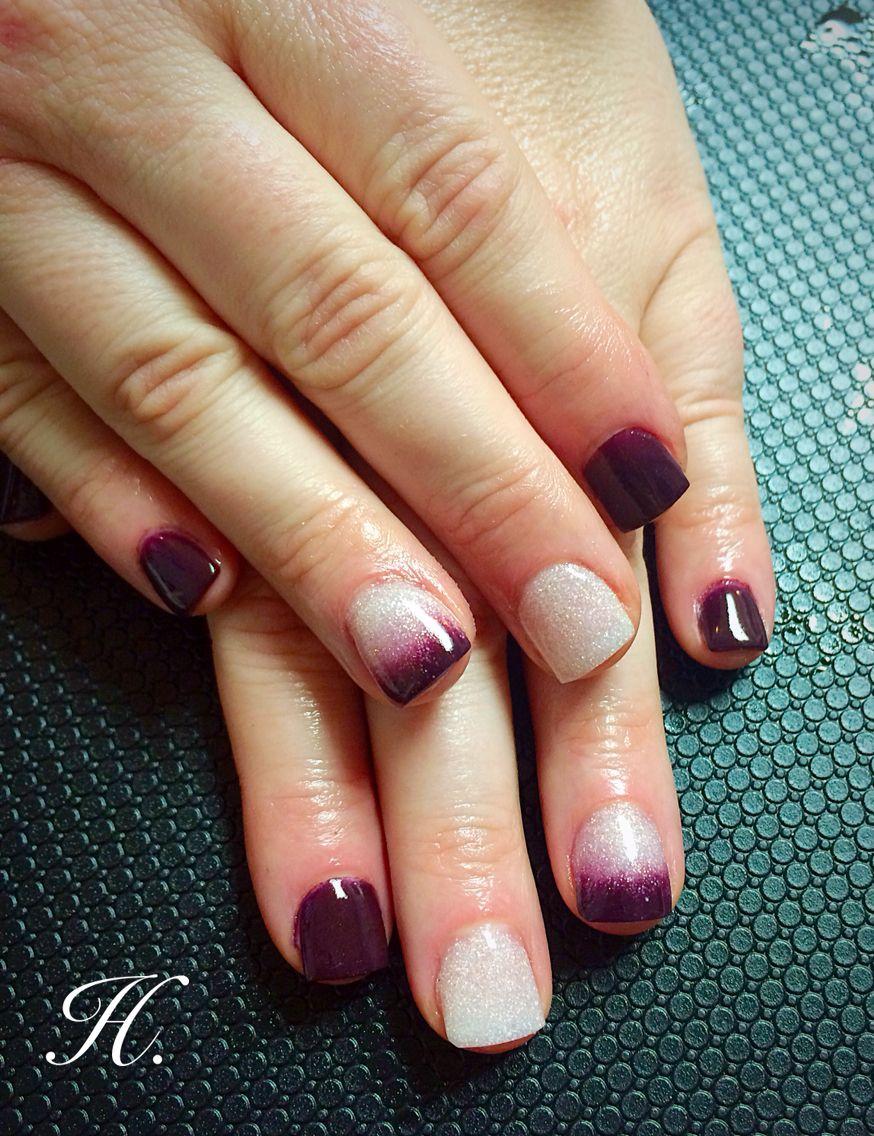 Acrylics by Haley Harris Plum, burgundy, fade | Nails | Pinterest ...