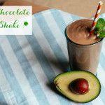 Healthy Chocolate Shamrock Shake #healthychocolateshakes