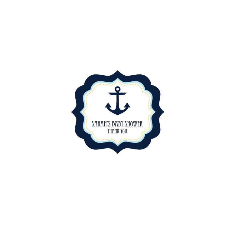 Nautical Baby Shower Frame Personalized Labels | Baby shower frame ...