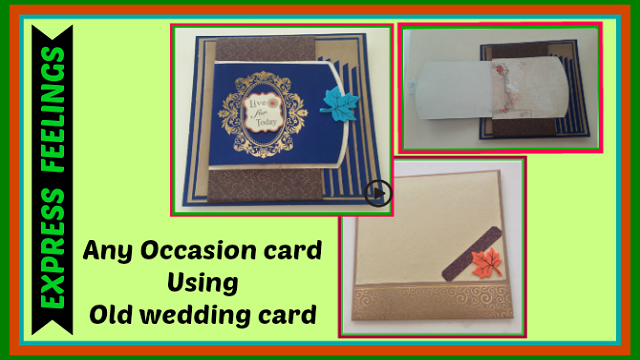 Tutorial video how to make any occasion card using old wedding tutorial video how to make any occasion card using old wedding cards to make greeting card with envelope at home m4hsunfo