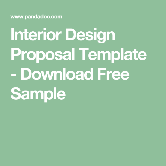 interior design proposal template download free sample
