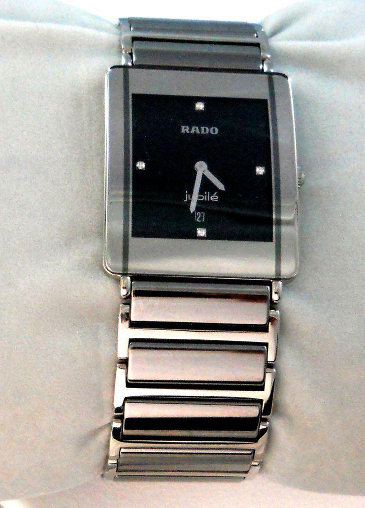 Rado Mens Womens Watch Jubilie Swiss Movement 160.0282.3 Silver Tone Titanium #Rado #Dress
