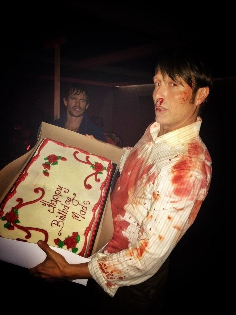 Hugh Dancy's face in this picture is my favourite thing ever. #Hannibal