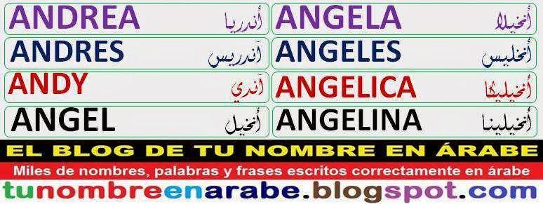 Plantillas De Tatuajes De Nombres En Arabe A Nombres En Arabe