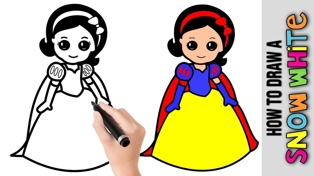 How To Draw Snow White Disney Princess Easy Pictures To Draw