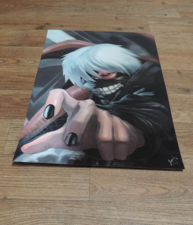 3d Lenticular Dragon Ball Poster Print Ken Kanekiken Etsy Poster Prints Anime Japanese Anime