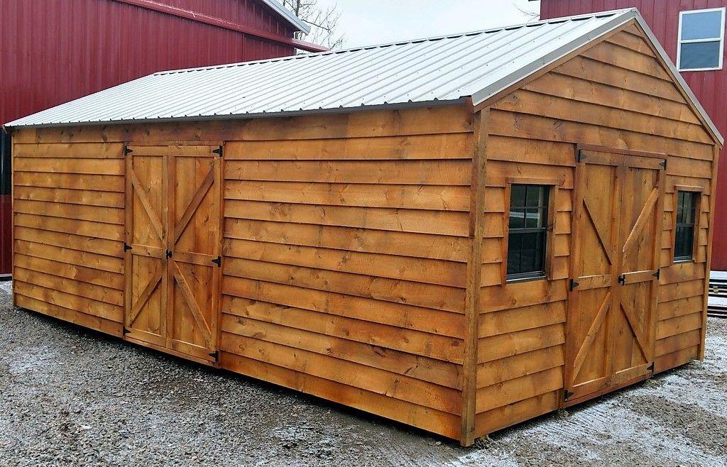 14x24 A Frame Shed Shed Homes Shed Wood Siding