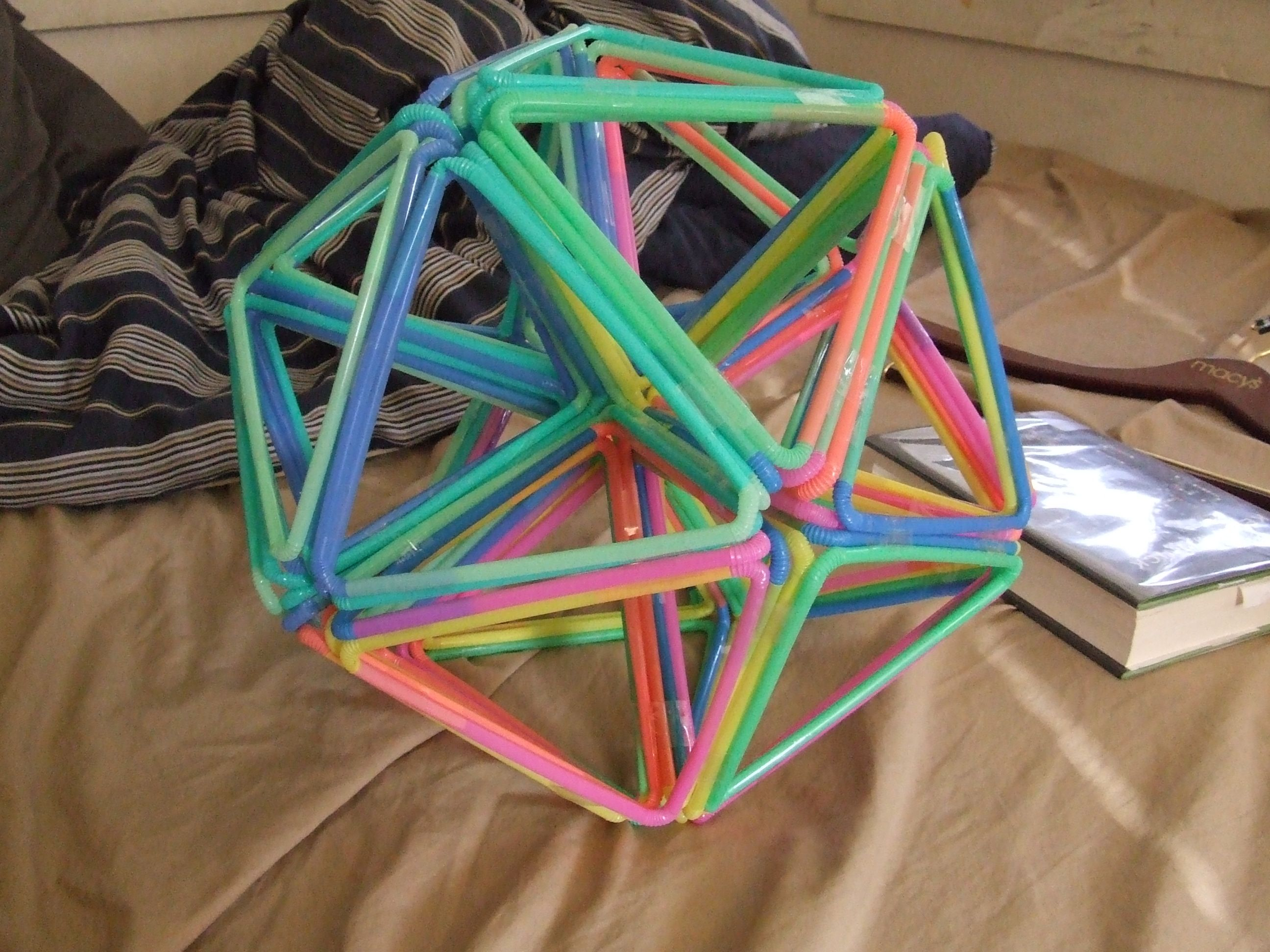 How to make a buckyball out of bendy straws for Cool things to make and do