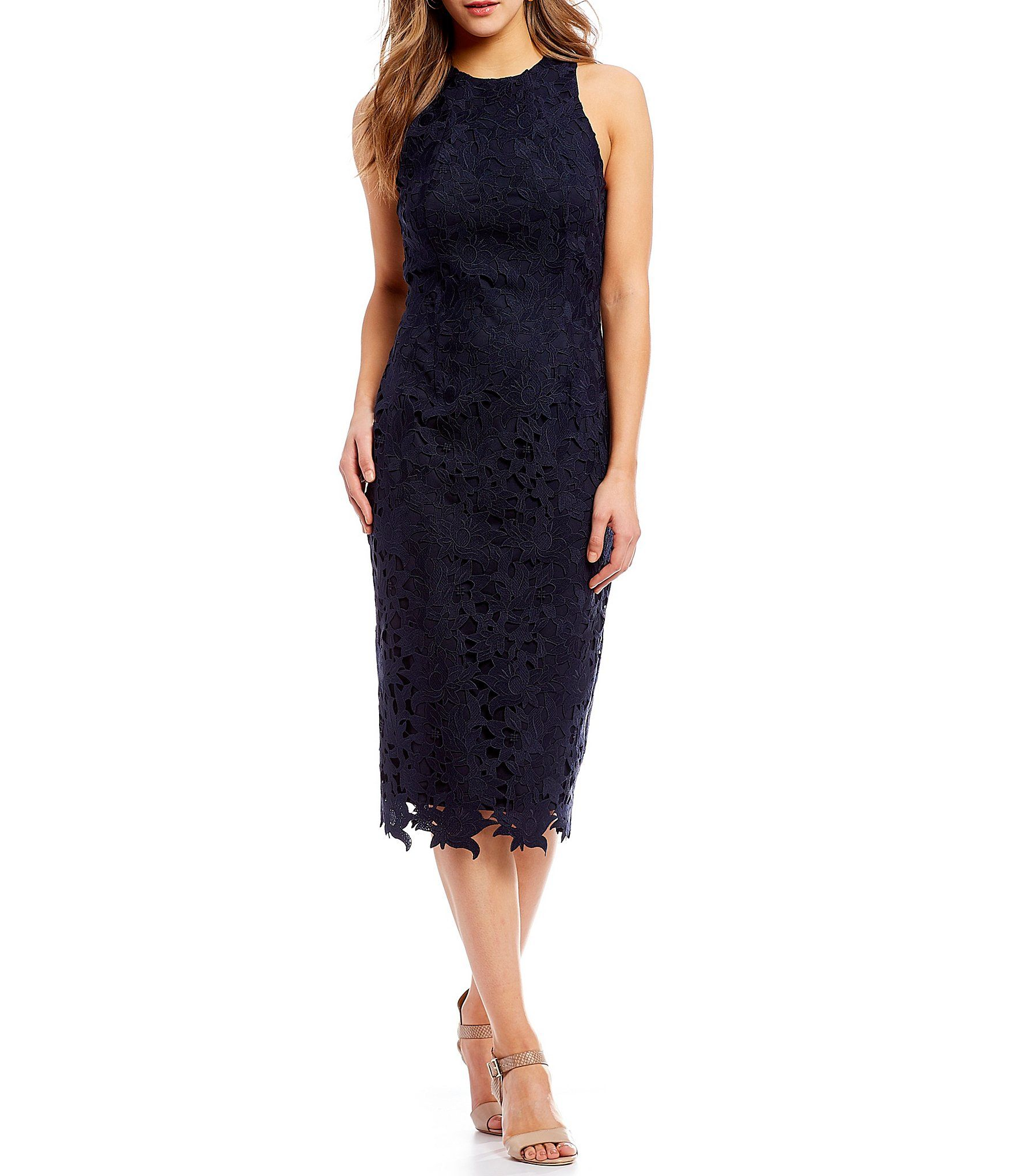 3e7192bf389 Antonio Melani Peggy Lace Midi Dress