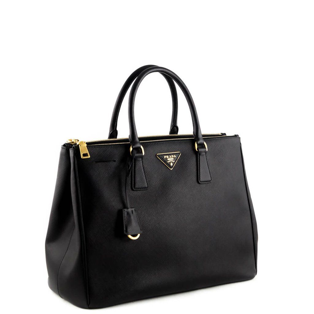 afbad57aaac8 Prada Black Saffiano Large Galleria Double Zip Tote -  1750 CAD ...